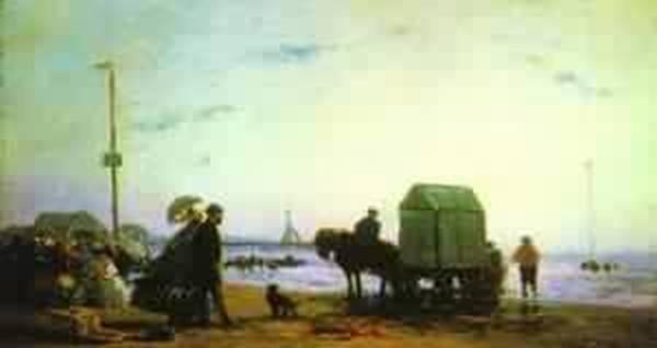 beach scene trouville 1863 XX the metropolitan museum of art new york usa